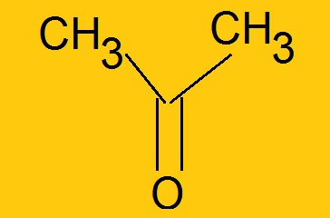 نماي گسترده فرمول شيميايي حلال استون (دی متیل کتون)  توليدي شركت كوير شيمي اسپادانا - فروش استون در اصفهان
