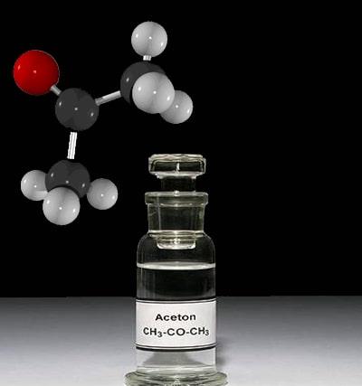 حلال استون (دی متیل کتون) - Aceton- یک لکه بر ساده با فرمول شیمیایی ch3-co-ch3